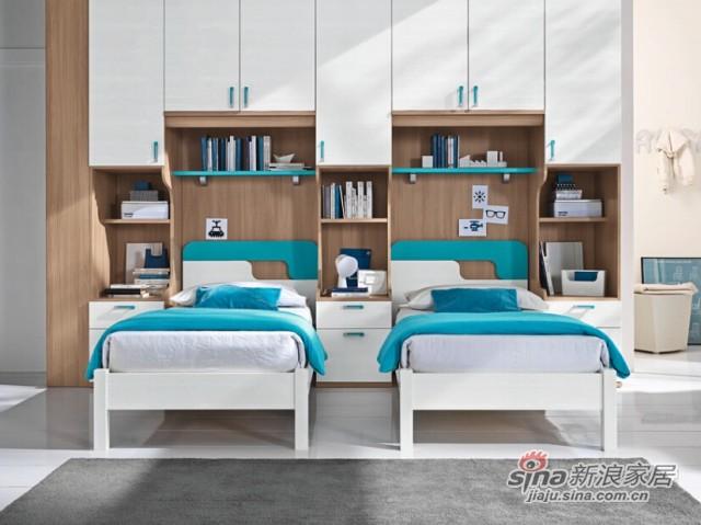 哥伦比尼儿童家具高尔夫系列双床房-3
