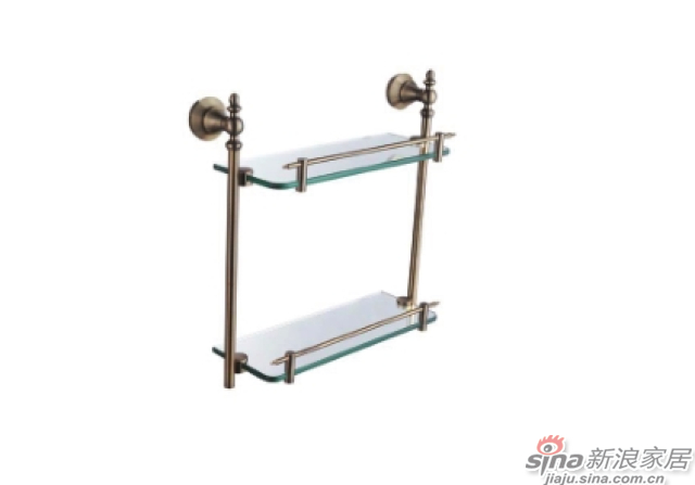 SM3212AB双层玻璃置物架