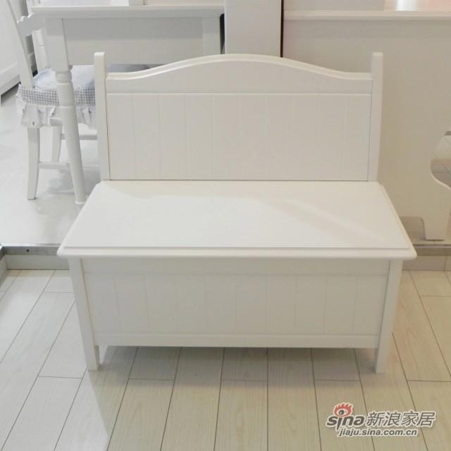 【新干线】板木储物凳床尾凳梳妆凳欧式田园家具-0