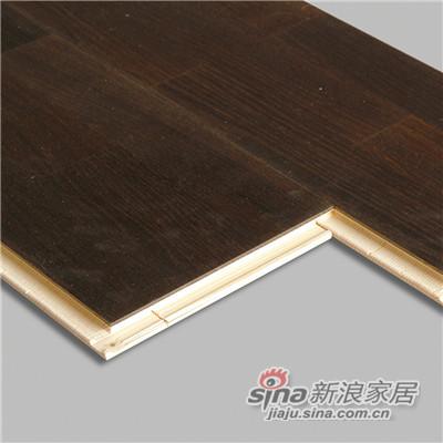 德合家BEFAG三层实木复合地板B55608三拼烟熏自然油拉丝橡木