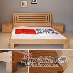 床 水曲柳 实木板木结合 B&E佰宜家居 -0