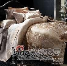 紫罗兰家纺全棉提花六件套马塞(驼色)VPEZ710-6-0