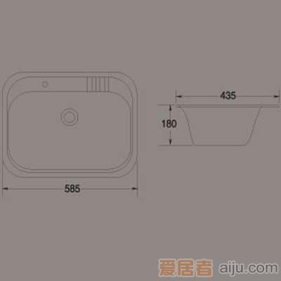 惠达洗涤槽-HD1单槽2
