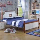 糖果屋 儿童卧室家具床 板木儿童床 单双人板式床 地中海王子床 1500*1900 标准单床
