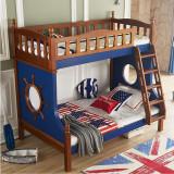 糖果屋床 上下床 CD201 1.2*1.9米 裸床 实木儿童床 松木床 高低床