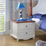 糖果屋 中式现代儿童卧室床头柜 时尚简约抽屉储物柜 床边柜 儿童床头柜