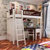 糖果屋 梅花系列 儿童家具六件套1.2米床双门衣柜书桌书柜 组合床 糖果屋 儿童组合床套房家具 1.2*1.9米