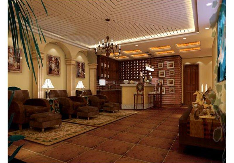 客厅:在保留原有空间高度的同时,加深空间的层次感及装饰性。