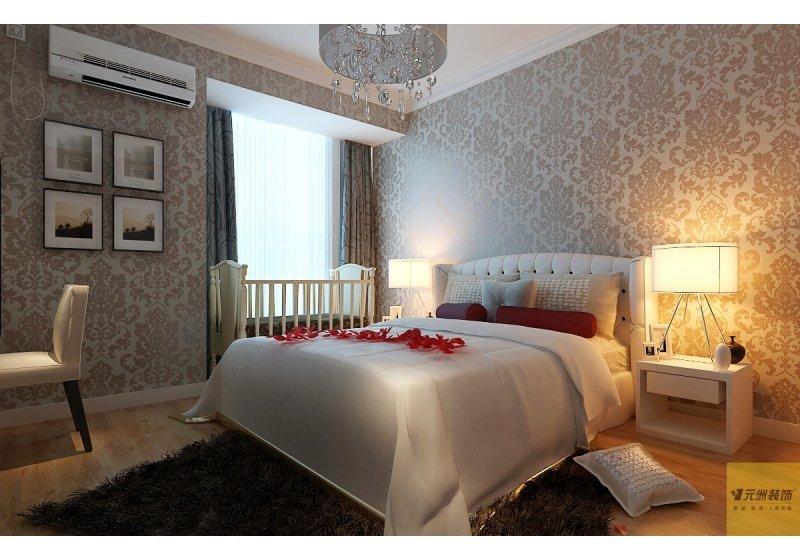 主卧室:主卧室飘台打掉增加了卧室空间,让家具摆放起来更自由,空间舒适度倍增。曾加了婴儿床的空间。
