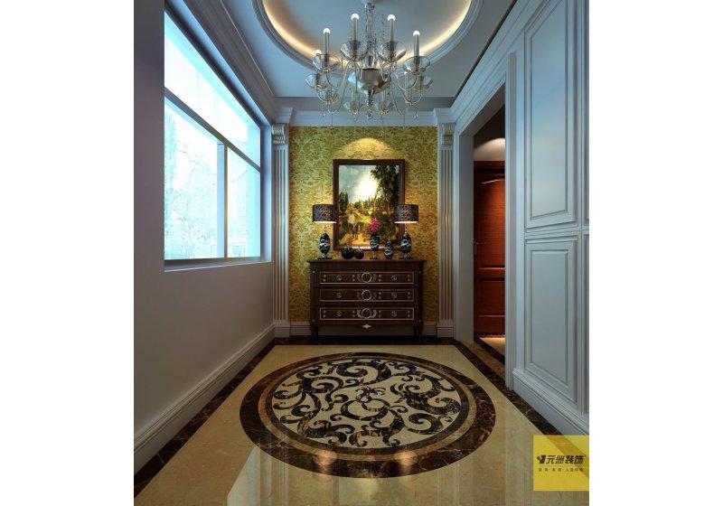弧拱形石膏板灯带吊顶,无不传递着设计的独具匠心。在空间处理上,整体的一致性与个体的活跃性贯穿其中,在精密度外表下体现出一种无声的流畅。埃及米黄色石材肌理的质感,与地面、地板深色踢脚线形成强烈的对比形成空间的一种对话,处处考虑到居家装饰的美观性的实用性,在设计上求新求巧。意在用空间本身的美营造一种大气、久远的生活体验。