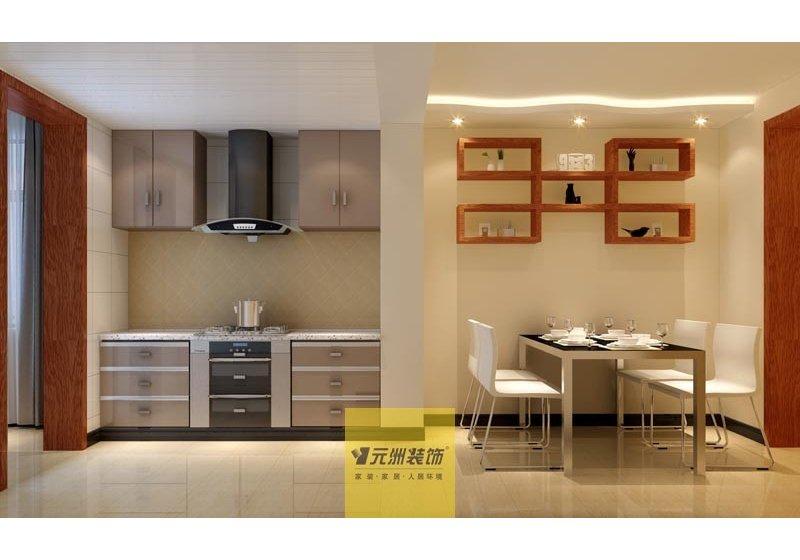 由于是开放式厨房,所以没有选择了直抽式烟机,款式也是为了融合整体风格而选择的。