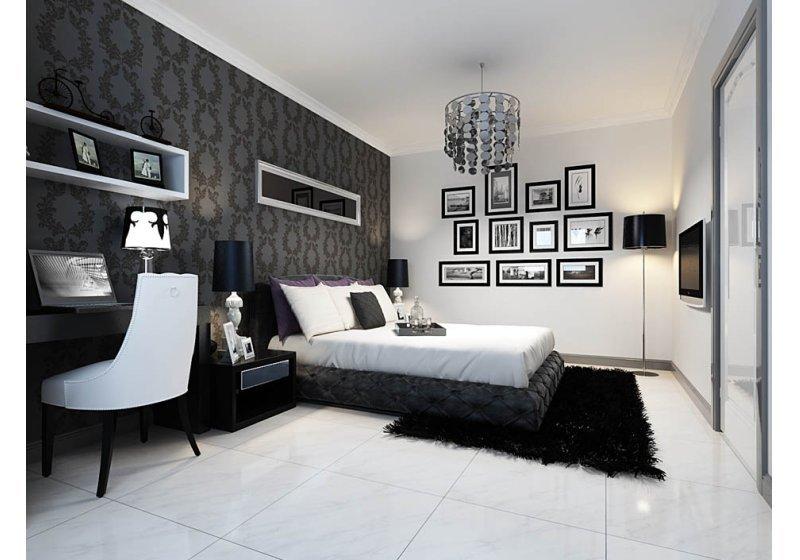 強烈的设计风格,跳脱常见的暖色系搭配,改以神秘感的黑、白两色,转化为各种材质表现。