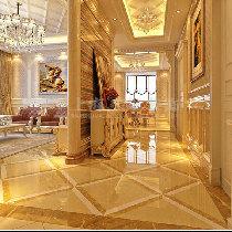 Q:1970197900**方圆经纬130平三室一厅简欧装修-客餐厅隔断