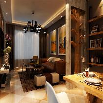 客厅整体一圈灯带的装饰,前后筒灯的感觉,让灯光给色彩添加了更好的调味剂,背景墙颜色偏咖啡色是房主的钟爱,两面的雕花隔段,背面是镜子的装饰,显得空间立体感强了很多。