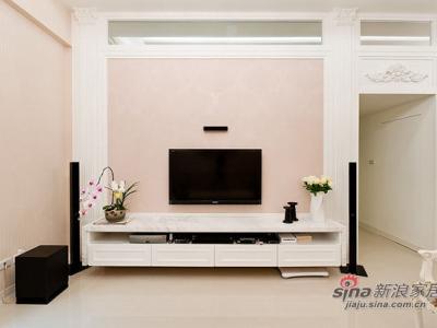 房子会呼吸 12万打造115平轻古典田园屋——电视墙效果图