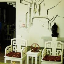 客厅背景墙手绘墙