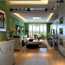 8W2打造120平现代简约风格 绿色简约豪宅