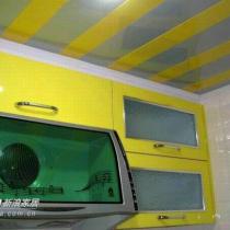橱柜是最简单的设计,橱柜吊柜及铝扣天花吊顶