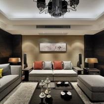 8万装120平时尚新中式 淡雅墨香三口之家