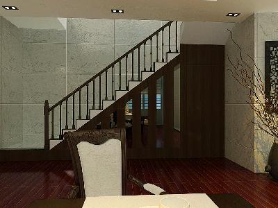 传统古典的东方之美在此游弋!作品通过配饰与家具的完美结合 ,中空的楼层更显大气,配上中国文化韵味十足,深得客户的喜欢作品名称:
