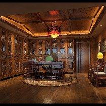 中式书房装修体现古色古香之感 装修咨询预约:13547851172  QQ:1401879218