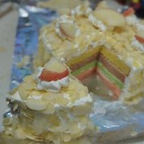 [美食召集]自己做的彩虹蛋糕