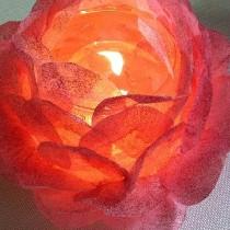 浪漫玫瑰花玻璃烛台
