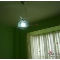 儿童房的飞机灯,购自淘宝
