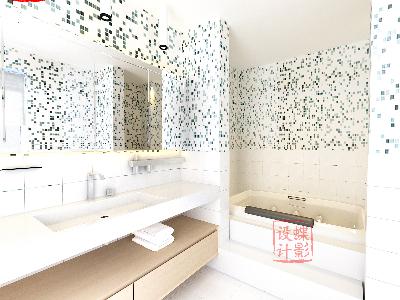 北欧简约大宅设计——卫生间