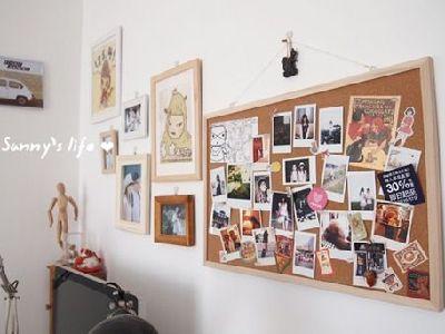 软木板,可用于挂照片,组合照片墙。