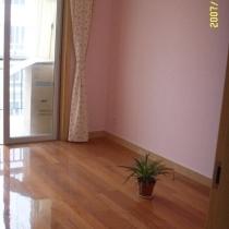 粉红色的宝宝房,还没有布置,空荡荡的,但是以后一定会有很多东西的