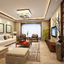 15万打造138平古色古香新中式三居室