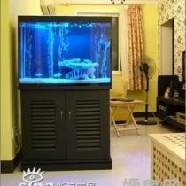 当初没玄关,为了私密性(大门对着楼梯走道),放了个鱼缸