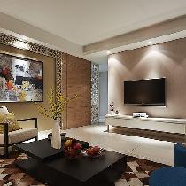 110平时尚现代3居室 艺术色彩满溢
