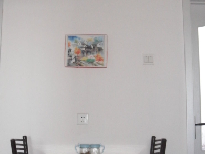 简易小餐厅,自己做的餐桌