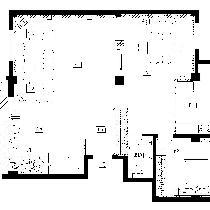 隆瑞园一层平面布置图