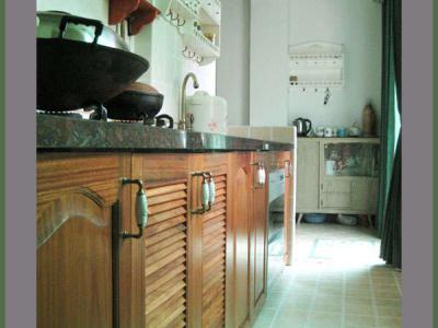 厨房,实木橱柜门,网购,6扇600元,油漆自己刷,拉手网购