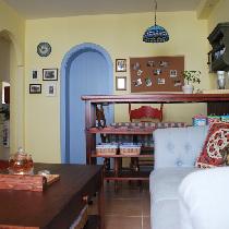 50㎡美式风格混搭地中海小屋