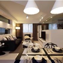上海实创装饰-65平一居室现代奢华风格充分展示小家大爱
