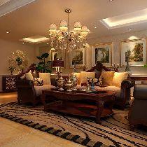 当地国际花园117平三居室装修设计