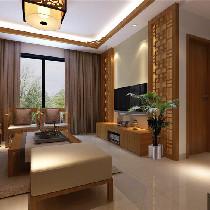 云星钱隆江南 客厅 优雅中式风格装修案例