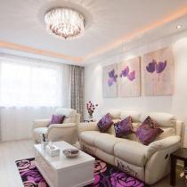 12万装76平紫色浪漫婚房 贤妻精心布置温馨港湾