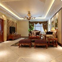 浪漫豪华欧式15万装修百泉家园140平米三居