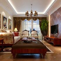 114平三居室美式乡村风格