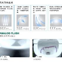 七、冲水:从实用角度考虑 法恩莎FB1698座便器冲水方式是双冲喷射虹吸,喷射虹吸式座便器是虹吸式座便器的改进型,增设喷射附道,增大水流冲力,加快排污速度,噪音问题有所改善。