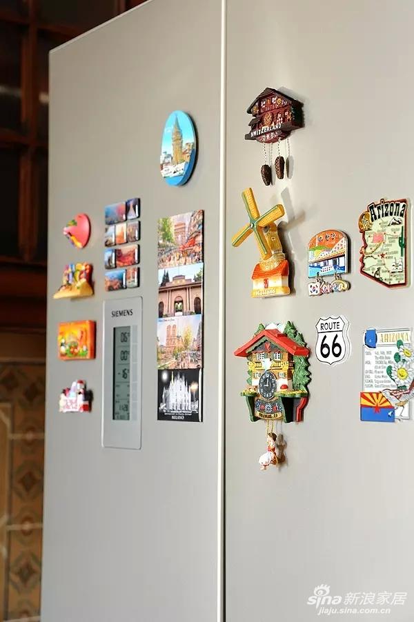 这里都是客户从世界各地带回来的冰箱贴。