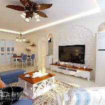 ▲地中海风格将海洋元素应用到家居设计中,给人自然浪漫的感觉。在造型上,广泛运用拱门与半拱门,给人延伸般的透视感。