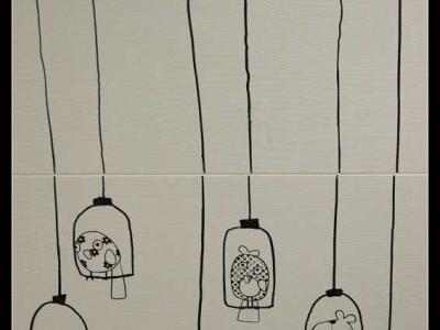 给墙上的小鸟们一个特写