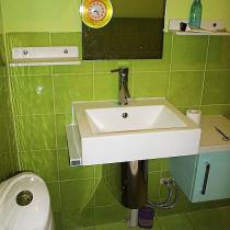绿色墙壁是我自己刷的,大师室外漆