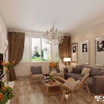 【上海实创装饰】116平中环花苑现代简约风格二手房装修设计